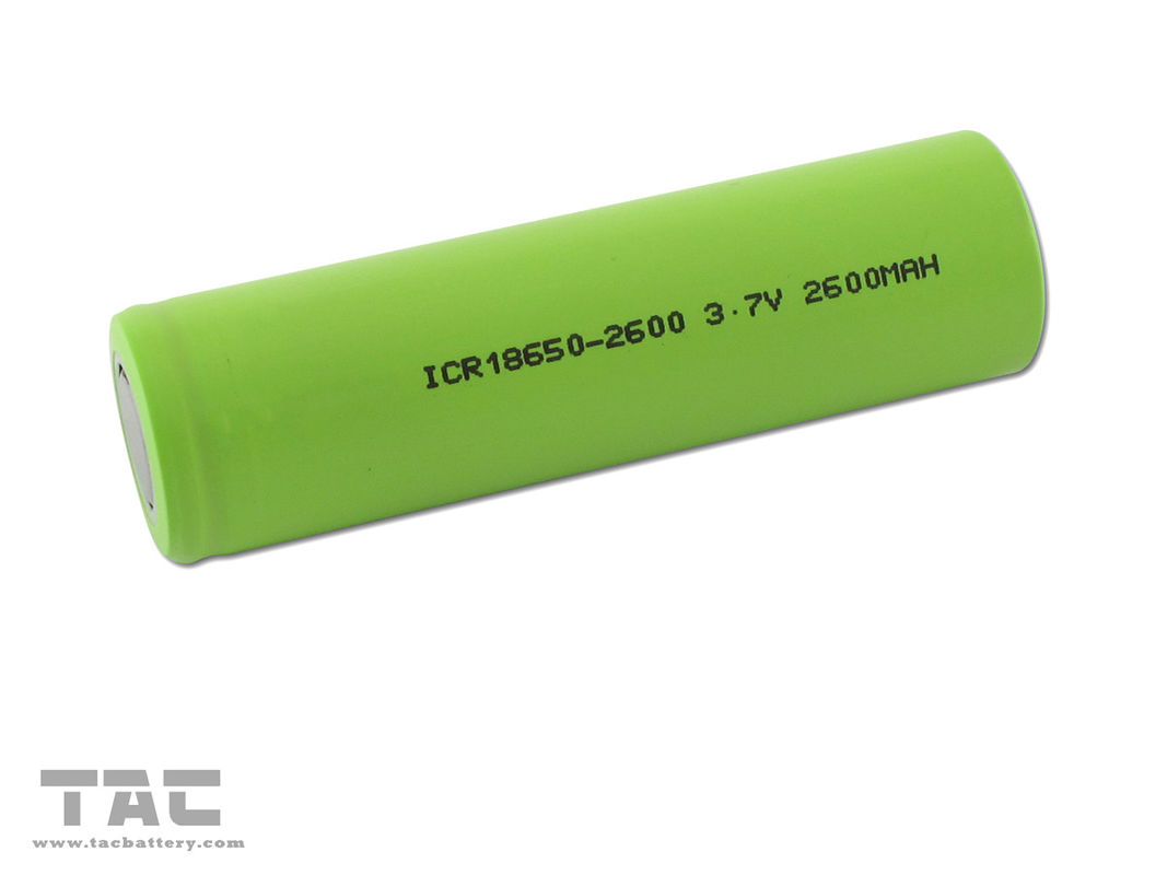 2600mAh Lithium Ion Battery Pack High Energy 3.7V ICR18650 Flat Top