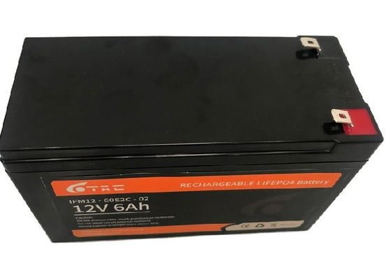 90*70*101mm 6Ah 12V LiFePO4 Battery Pack With BMS System